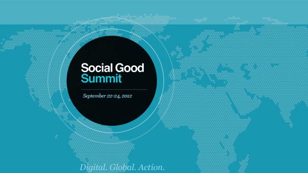 Social Good Summit, Sunday, September 23rd
